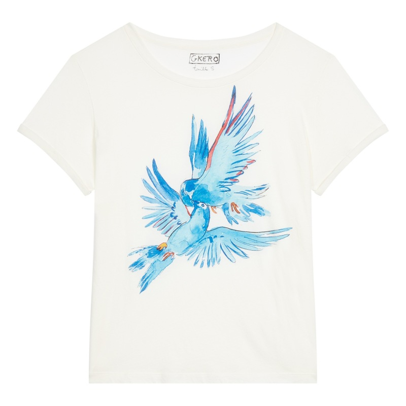 T shirt Imprimée Birds