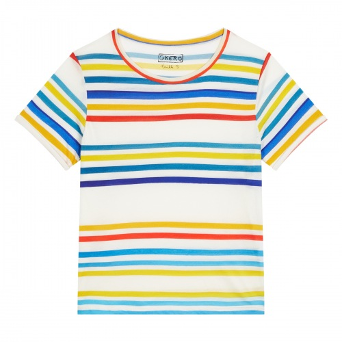 T Shirt en Coton Hot Stripes