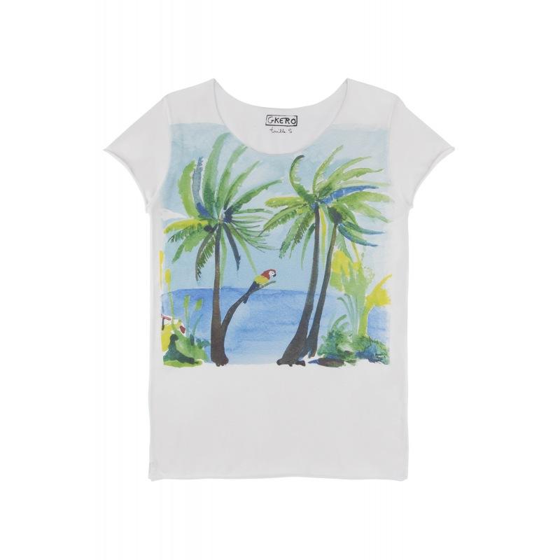 T shirt imprimé Brazil Monkey