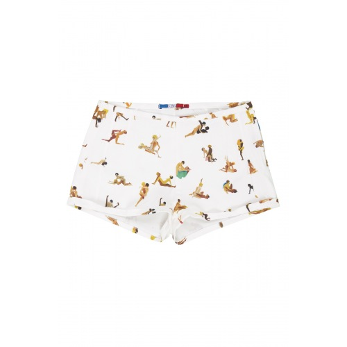 Short en Coton Imprimée Couple X