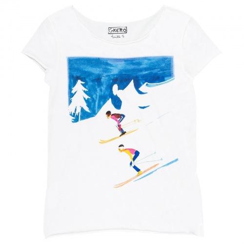 T shirt imprimée Descente
