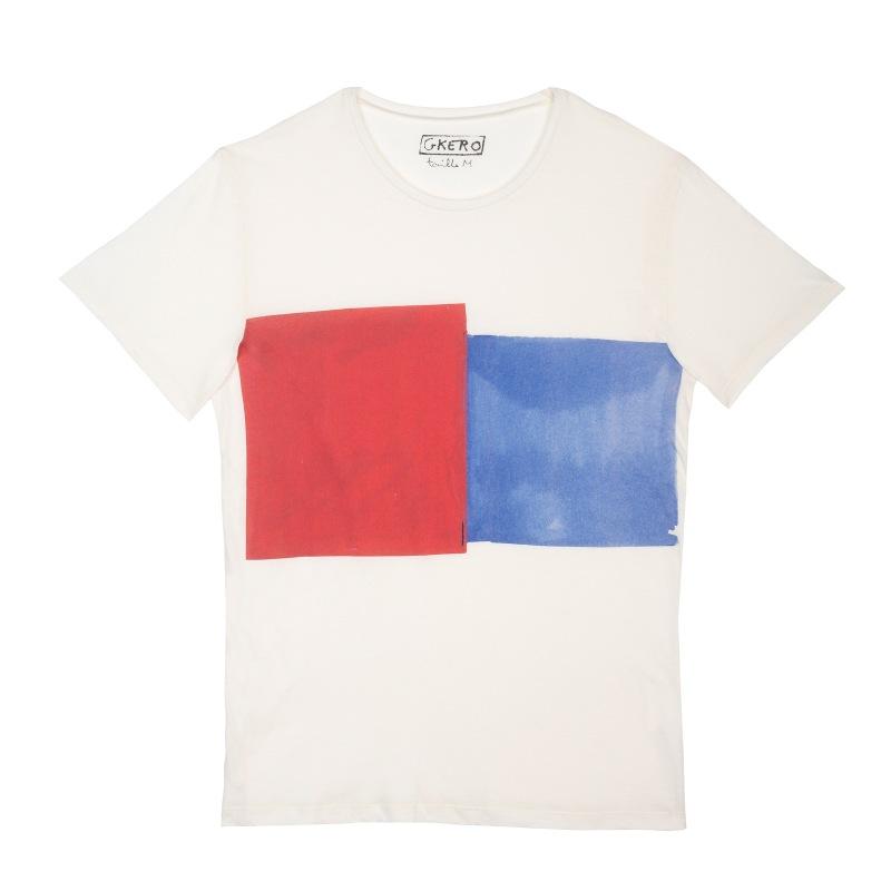 Bleu Rouge Géométrique