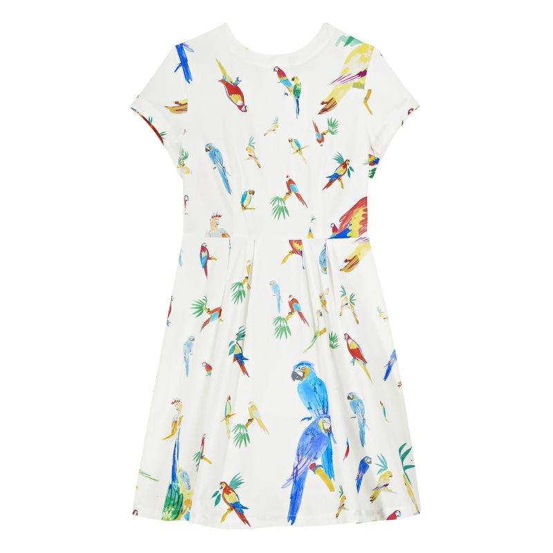 Robe Diana Imprimée Les Perroquets