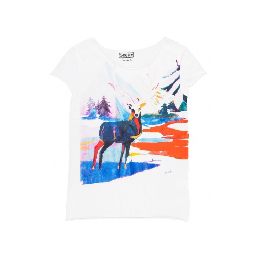 T shirt imprimée Eternal Deer