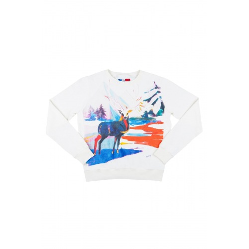 Sweatshirt Coton Laine Eternal Deer