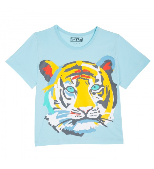 Tiger Face Blue