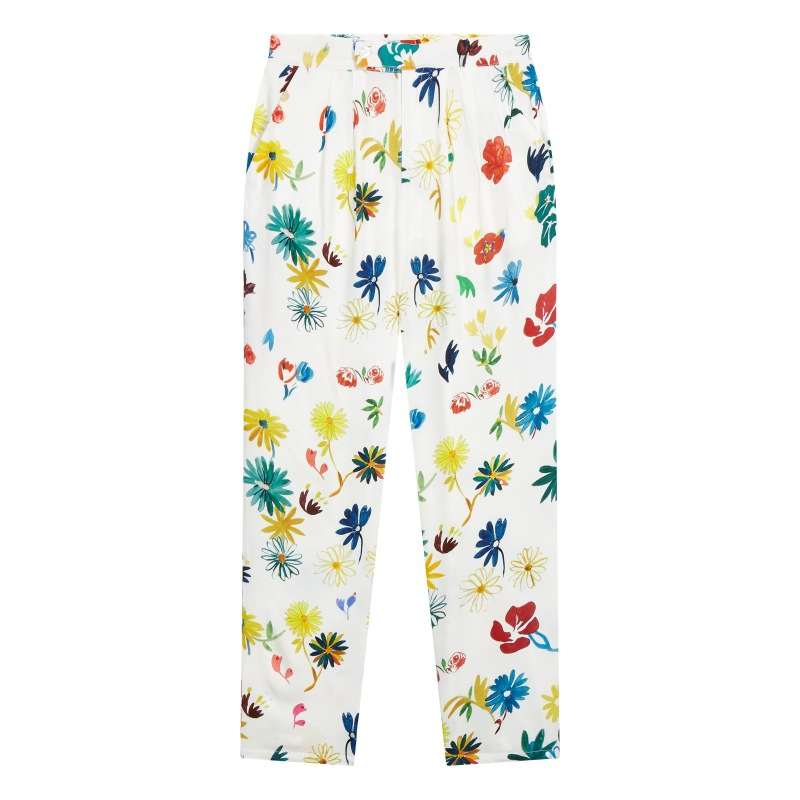 Pantalon en viscose Flowers