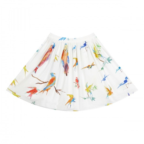 Jupe en Coton Flying Birds