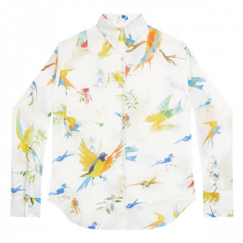 Chemise en Coton Flying Birds