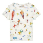 T Shirt en Coton Flying Birds