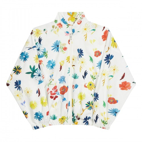 Teddy Jacket Flying Birds Flowers