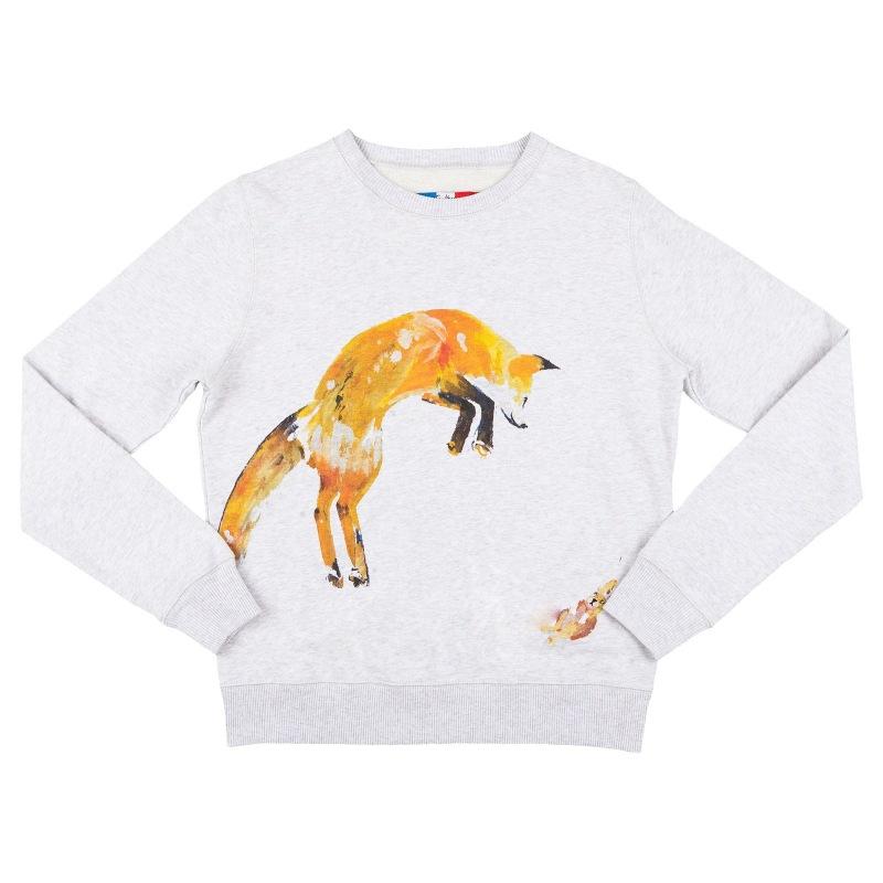 Sweatshirt Fox and Rabbit