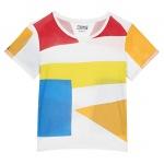 T shirt en coton Geometric